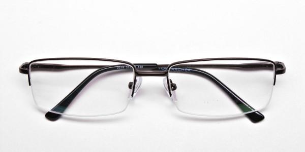 Rectangular Glasses in Brown, Eyeglasses - 6