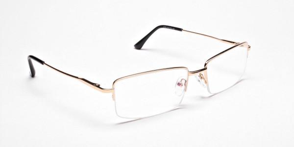 Gold Rectangular Glasses -2