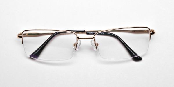 Gold Rectangular Glasses -6