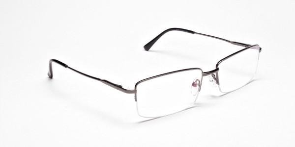 Gunmetal Rectangular Glasses -2