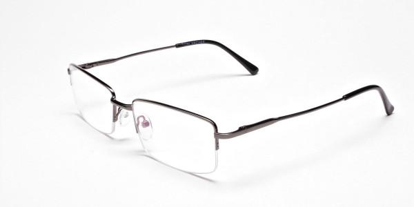 Gunmetal Rectangular Glasses -3