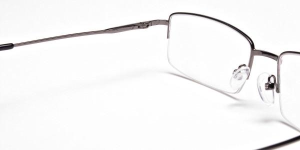 Gunmetal Rectangular Glasses -5