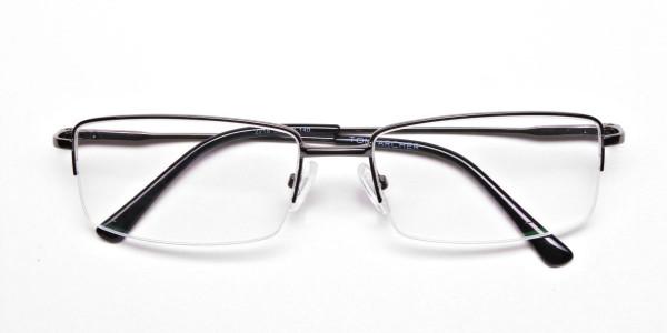 Gunmetal Rectangular Glasses -6