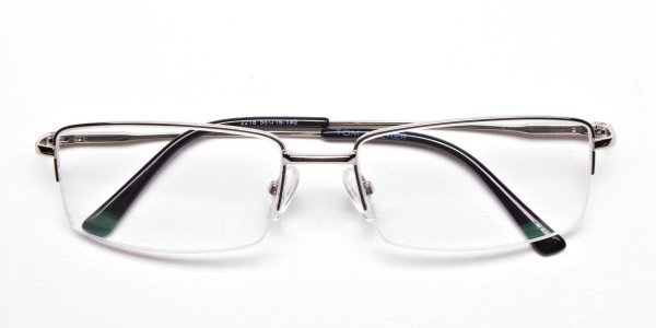 Rectangular glasses in Silver - 5