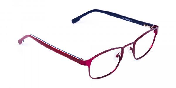 Metallic-Red-Rectangle-Glasses-Frames-2