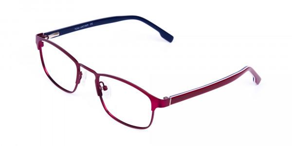 Metallic-Red-Rectangle-Glasses-Frames-3