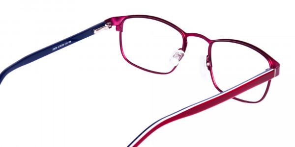 Metallic-Red-Rectangle-Glasses-Frames-5