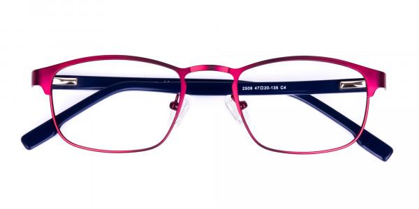 Metallic-Red-Rectangle-Glasses-Frames-6
