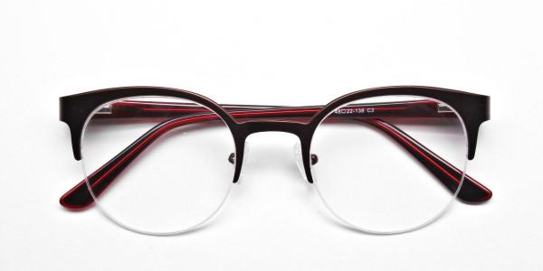 Browline Eyeglasses in Burgundy, Eyeglasses - 6