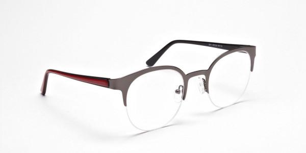 Browline Eyeglasses in Gunmetal, Eyeglasses - 2