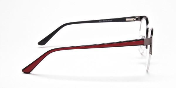 Browline Eyeglasses in Gunmetal, Eyeglasses - 4