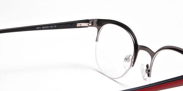 Browline Eyeglasses in Gunmetal, Eyeglasses - 5