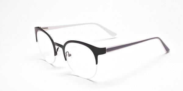 Browline Eyeglasses in Matte Black, Eyeglasses - 3