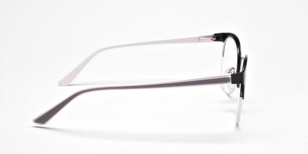 Browline Eyeglasses in Matte Black, Eyeglasses - 4