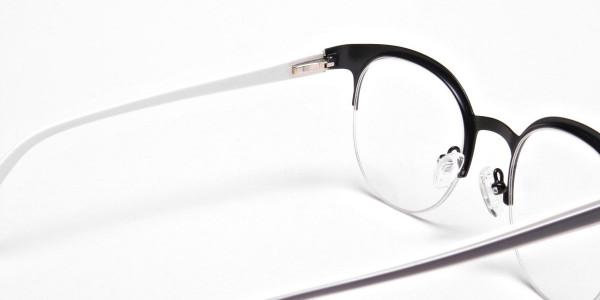 Browline Eyeglasses in Matte Black, Eyeglasses - 5