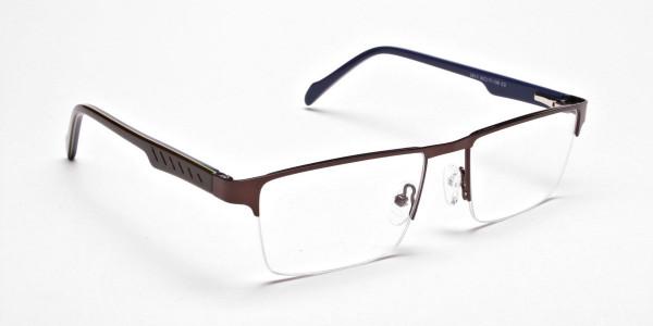 Rectangular brown Glasses, Eyeglasses -2