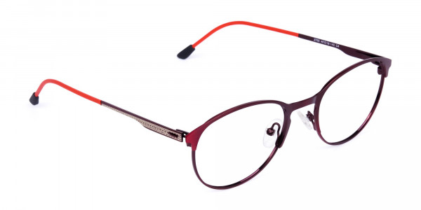 red oval glasses-2