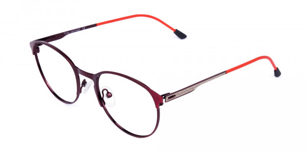 red oval glasses-3