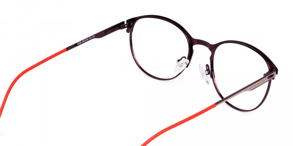 red oval glasses-5