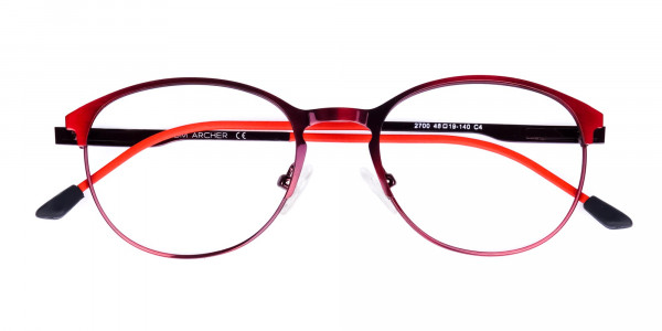 red oval glasses-6