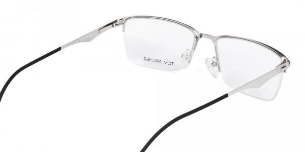 titanium rectangle glasses-5