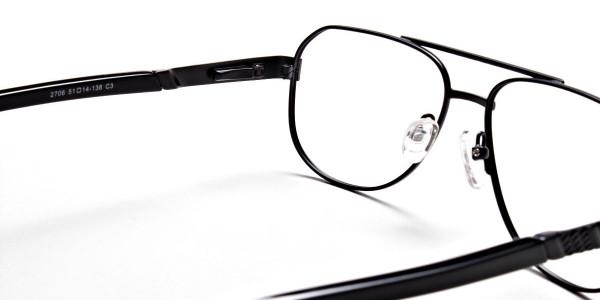 Black Aviator Glasses, Eyeglasses -5