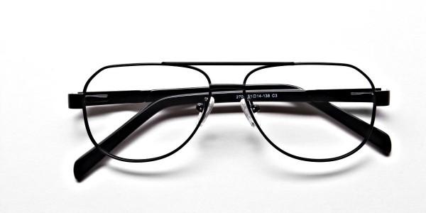 Black Aviator Glasses, Eyeglasses -6