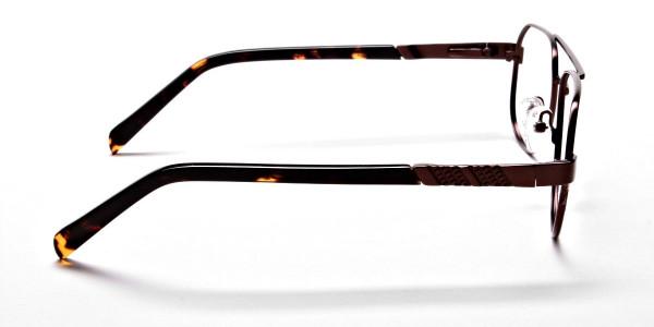 Brown Aviator Glasses, Eyeglasses -4