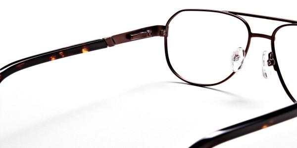 Brown Aviator Glasses, Eyeglasses -5