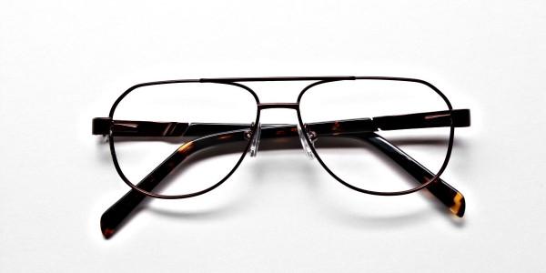Brown Aviator Glasses, Eyeglasses -6