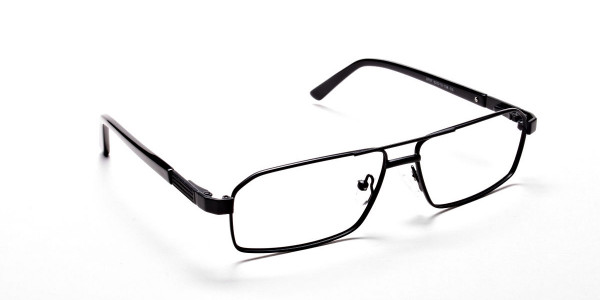 Black Rectangular Glasses, Eyeglasses -2
