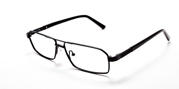 Black Rectangular Glasses, Eyeglasses -3