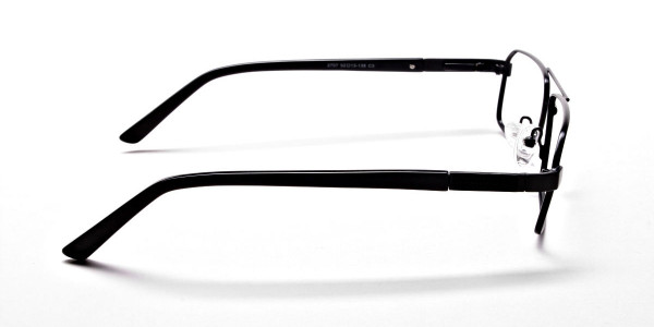 Black Rectangular Glasses, Eyeglasses -4