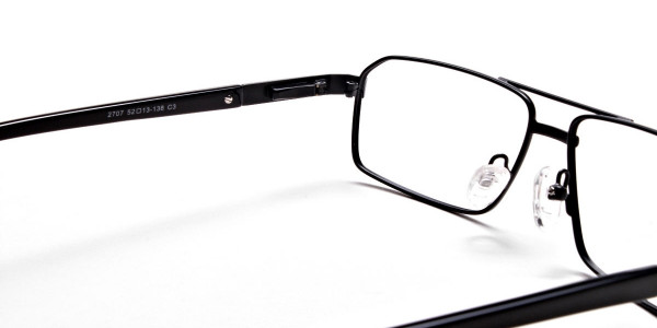 Black Rectangular Glasses, Eyeglasses -5
