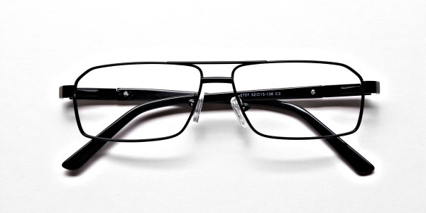 Black Rectangular Glasses, Eyeglasses -6