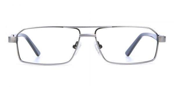 Navy blue gunmetal glasses - 1
