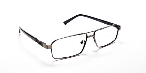 Navy blue gunmetal glasses - 2