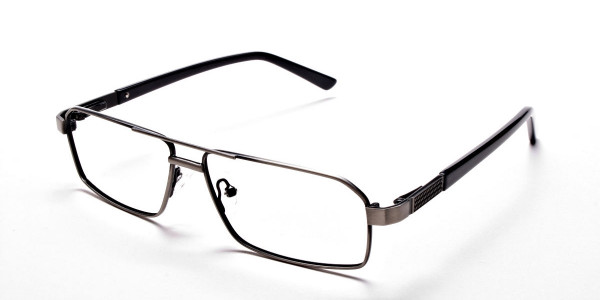 Navy blue gunmetal glasses - 3