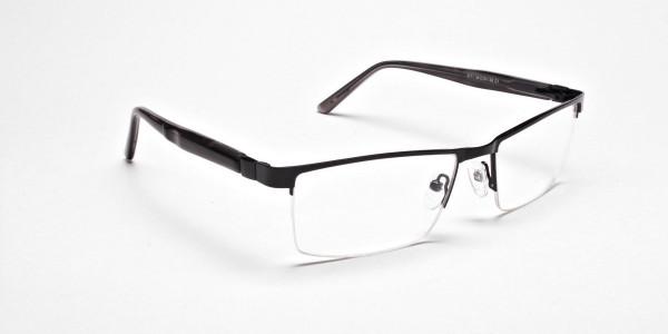Black Rectangular Glasses, Eyeglasses -2