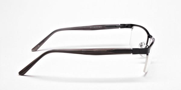 Black Rectangular Glasses, Eyeglasses -4