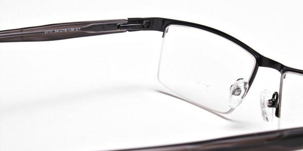 Black Rectangular Glasses, Eyeglasses -5