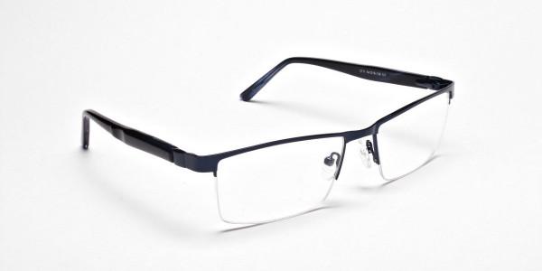 Rectangular Glasses in Navy Blue, Eyeglasses -2