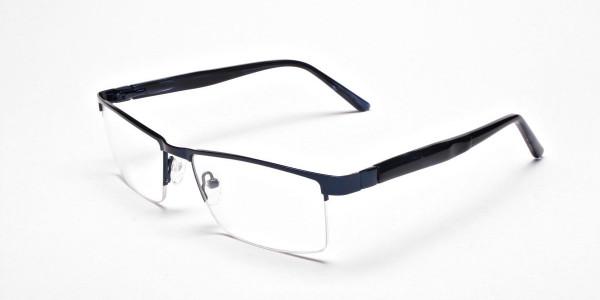 Rectangular Glasses in Navy Blue, Eyeglasses -3