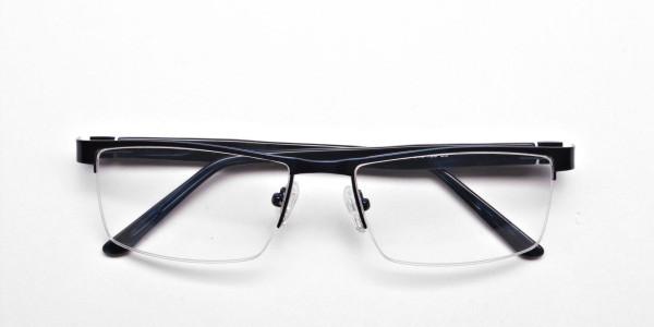 Rectangular Glasses in Navy Blue, Eyeglasses -6
