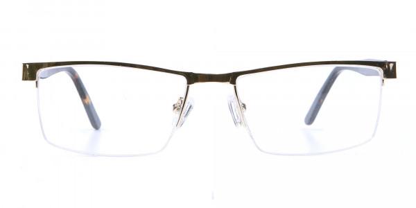 Rectangular Glasses in Gold, Eyeglasses -1