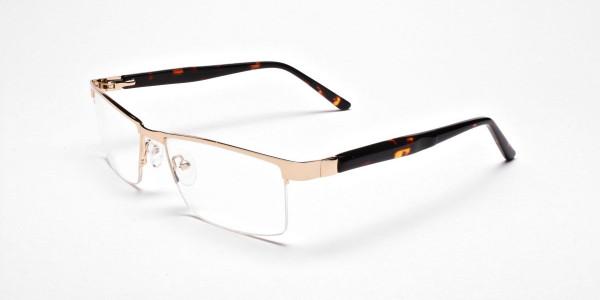 Rectangular Glasses in Gold, Eyeglasses -3