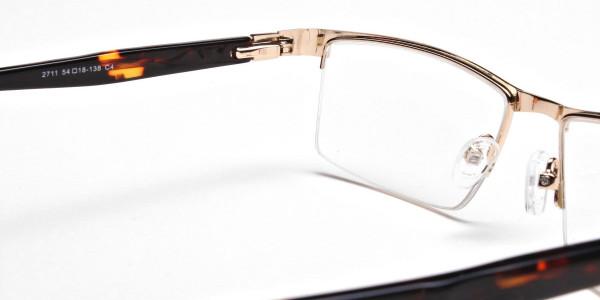 Rectangular Glasses in Gold, Eyeglasses -6