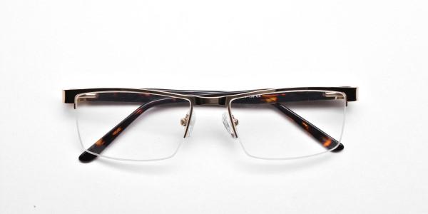 Rectangular Glasses in Gold, Eyeglasses -5