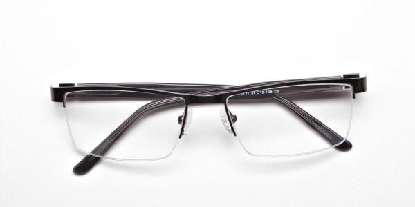 Rectangular Glasses in Gunmetal, Eyeglasses -6