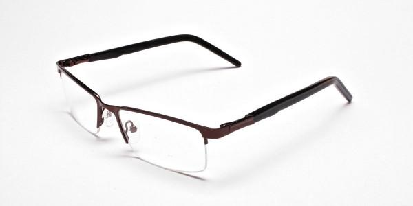 Rectangular Glasses in Brown, Eyeglasses -3